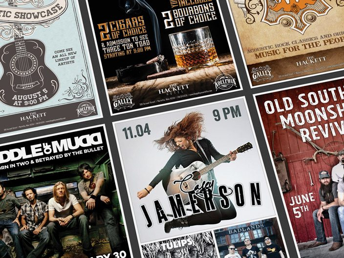 The Adelphia Music Hall Posters