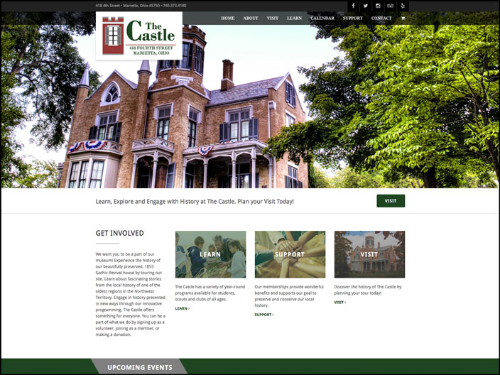 The Castle Website Design