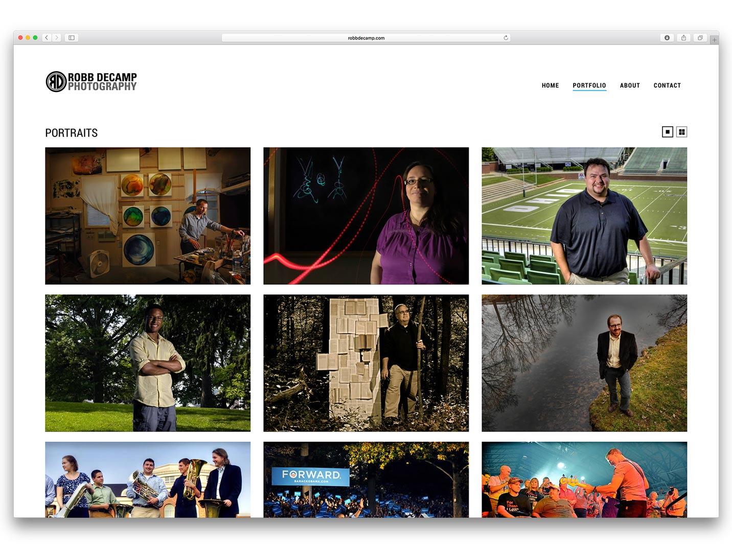 Robb DeCamp Photography Website
