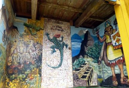 Interesting art at the hostel ...