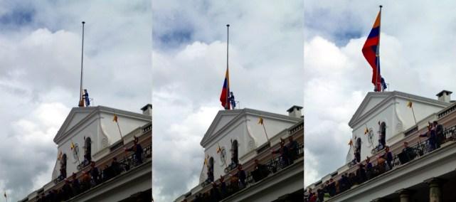 they raise the flag