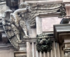 condor and lion on the national bank building
