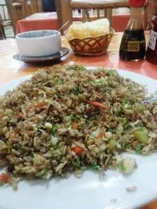 $3 chicken fried rice in Rio Dulce _after_ I ate more than my fill.