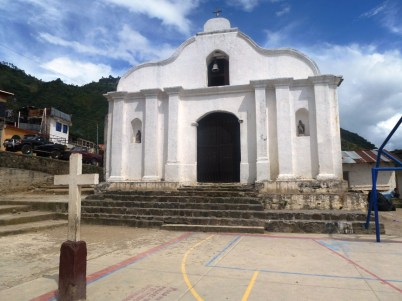 the main church in Santa Cruz La Laguna