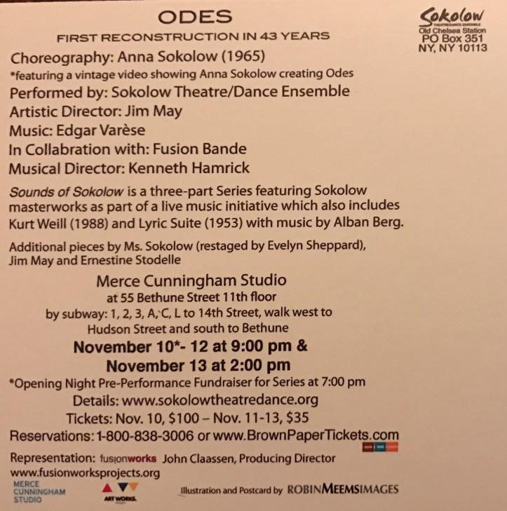 Odes Program - Sokolow