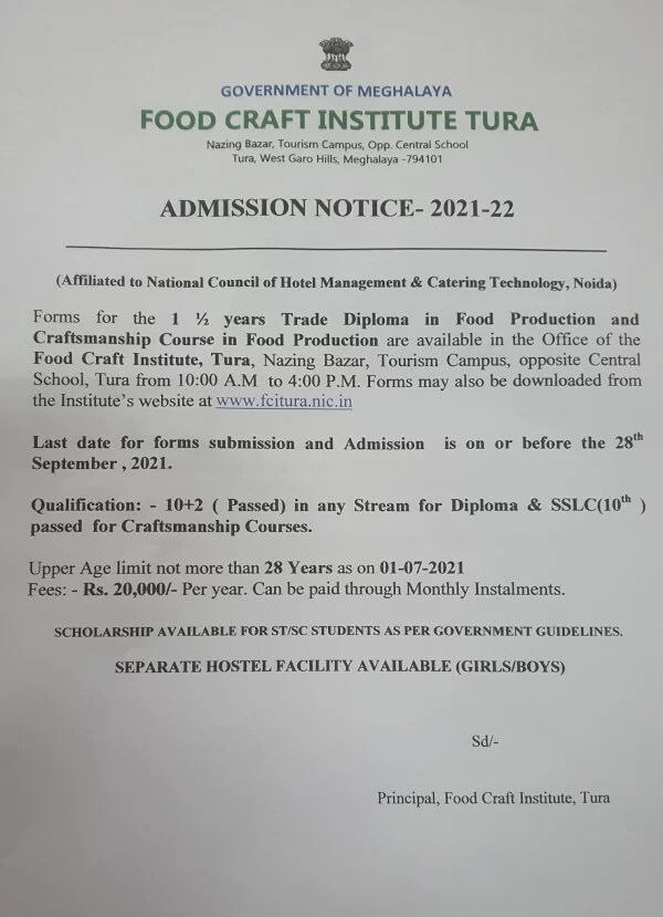 FCI-Tura-Admission-2021-Food-Production-and-Craftsmanship-Course