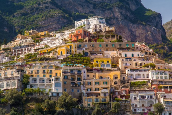 view in positano, italy