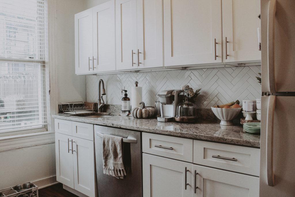 shelves project clean kitchen