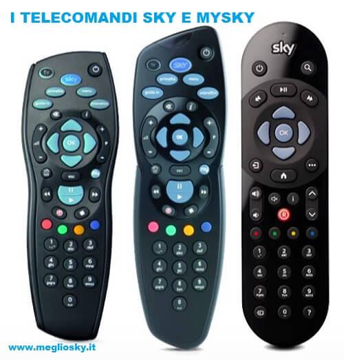 i telecomandi Sky