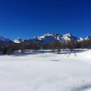 la neve nel weekend montagna chamois