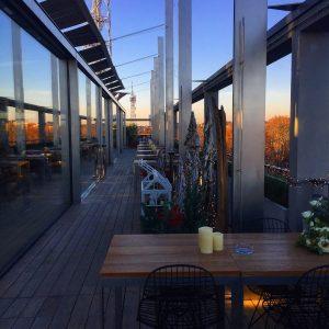 il rooftop della Terrazza Triennale a milano per l'aperitivo