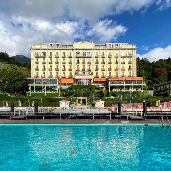 La facciata del Grand Hotel Tremezzo