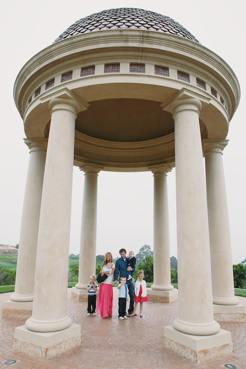 Wallace Family; Pelican Hill; golf course family fun; five kids; gazebo
