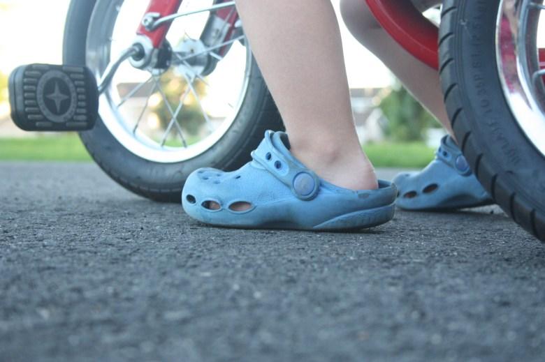 crocs and bikes