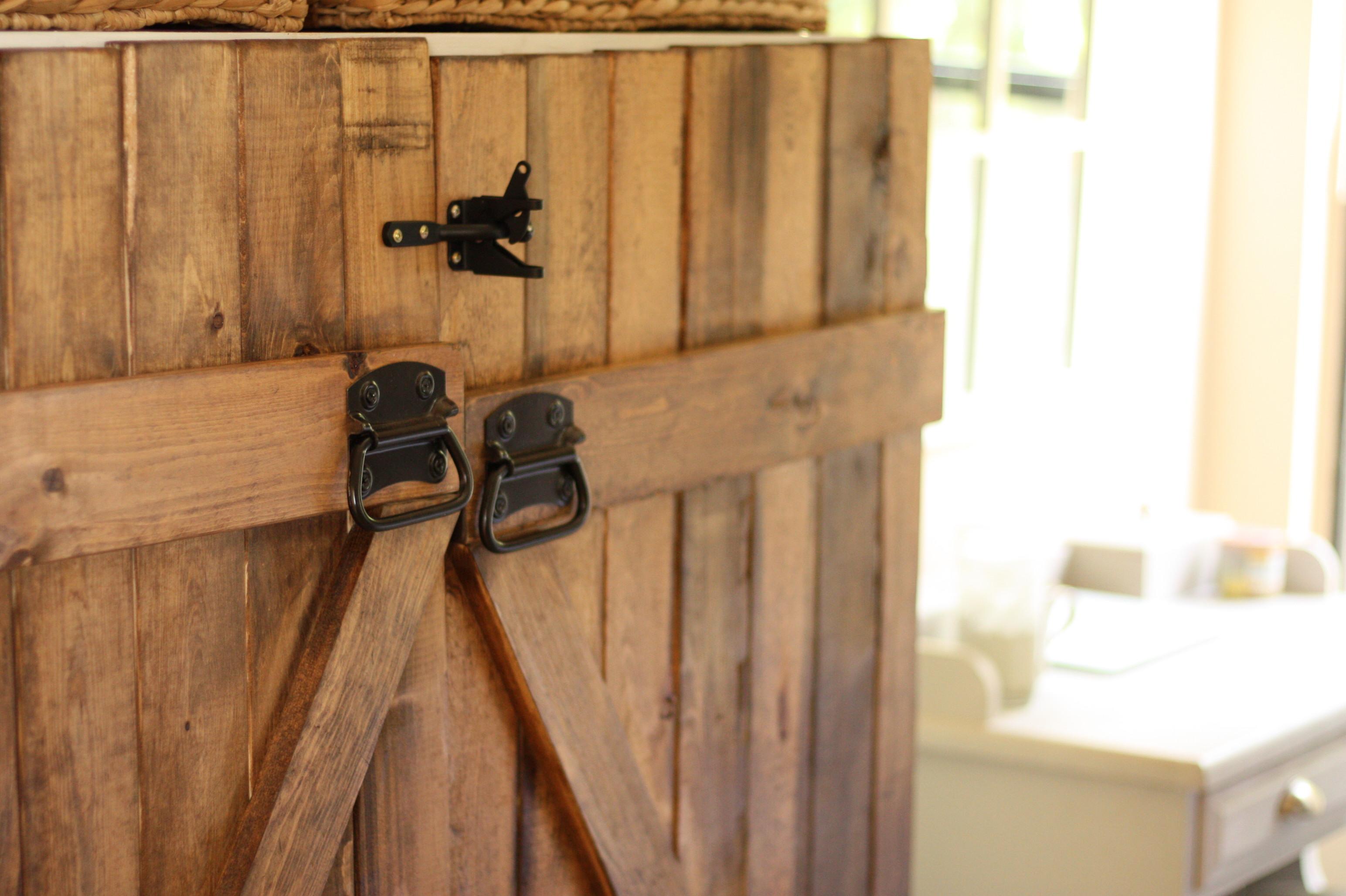 Barn Door Dresser|Bookshelf turned into a dresser|Meg Wallace|One Glass Slipper|DIY