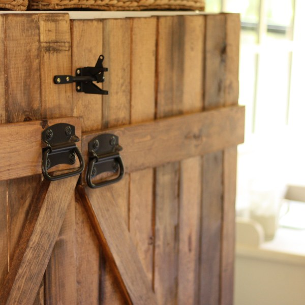 Barn Door Dresser|Bookshelf turned into a dresser|Meg Wallace|One Glass Slipper|DIY