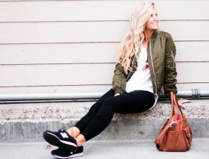 army green bomber | meg marie wallace | spring outfit