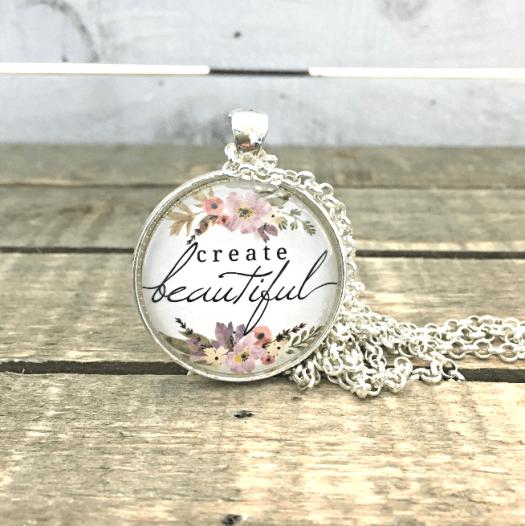 create beautiful silver, create beautiful bronze necklace by FiveArrows Jewelry