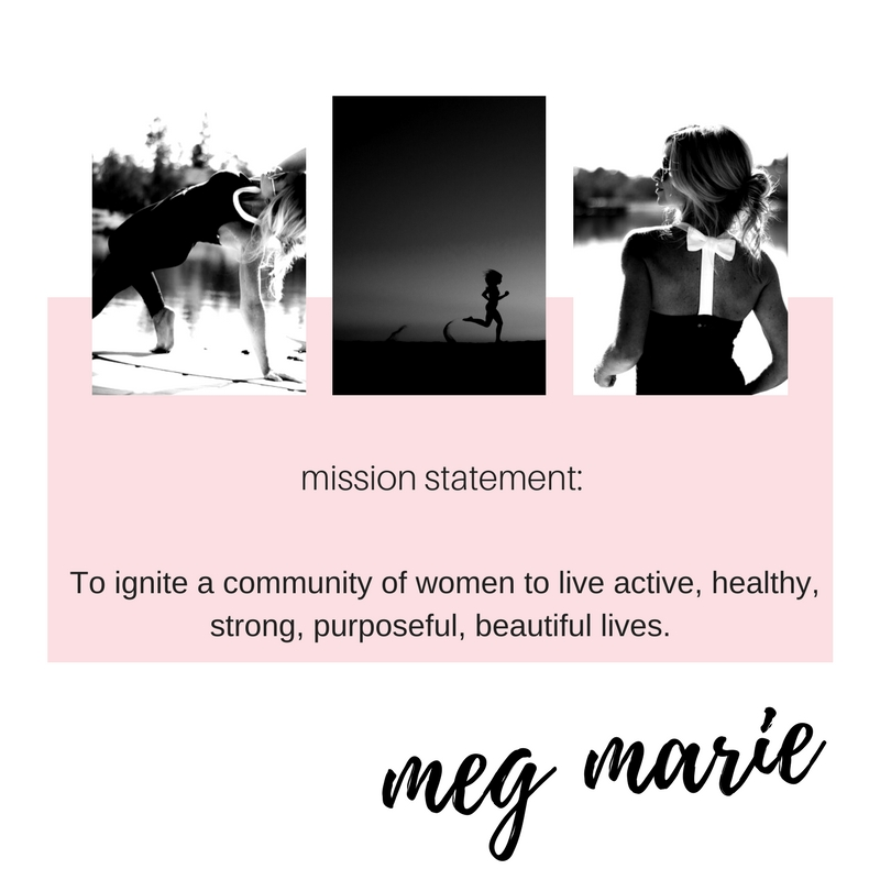 join the fitness plan | meg marie fitness | FREE 12 week fitness plan | mission statement