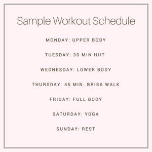 sample weekly workout schedule | meg marie fitness | FREE 12 week fitness plan
