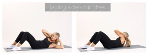 laying side crunches
