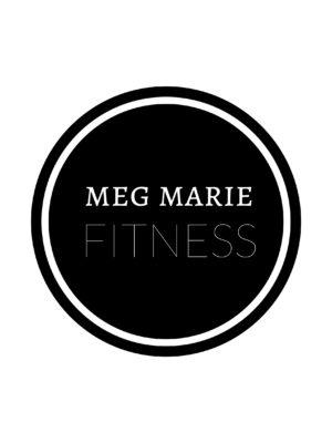meg marie fitness round black logo