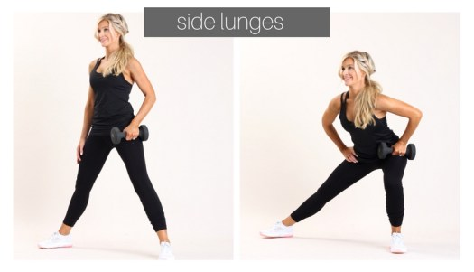 side lunges | meg marie fitness | fit for a purpose | 12 week workout plan