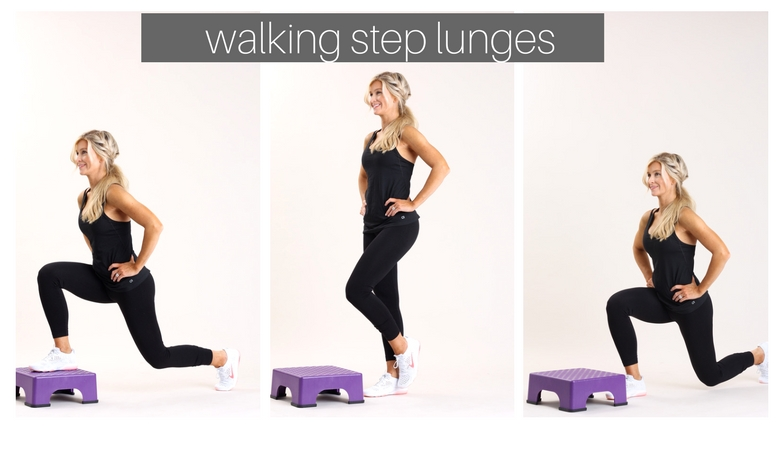 walking step lunges
