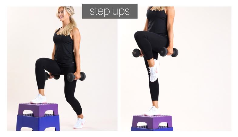 weighted step ups | meg marie fitness | fit for a purpose