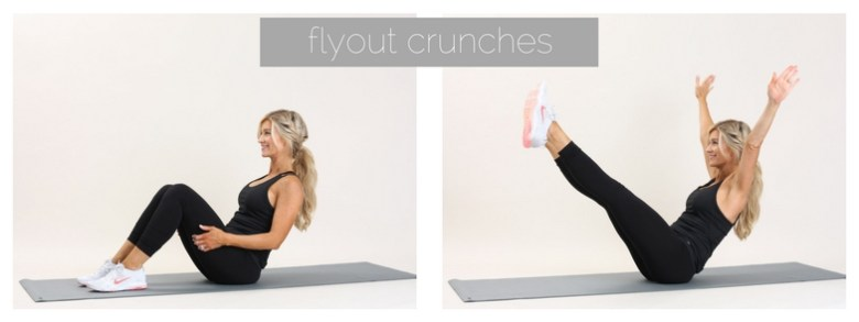 flyout crunches | meg marie fitness | 12 week free workout plan
