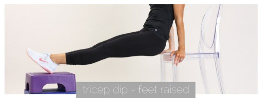 tricep dip feet raised | meg marie fitness | fit for a purpose
