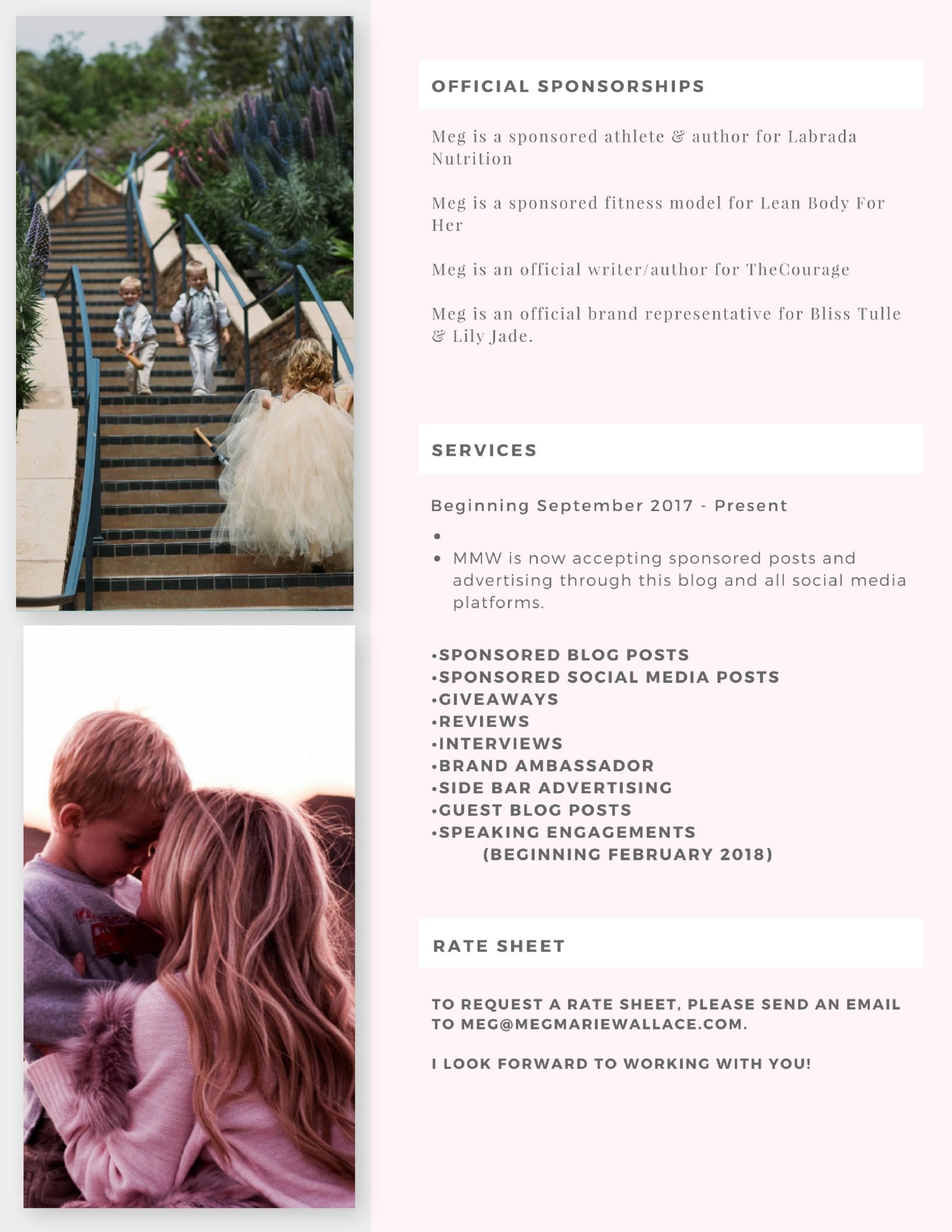 Media Kit | Meg Marie Wallace | page 2