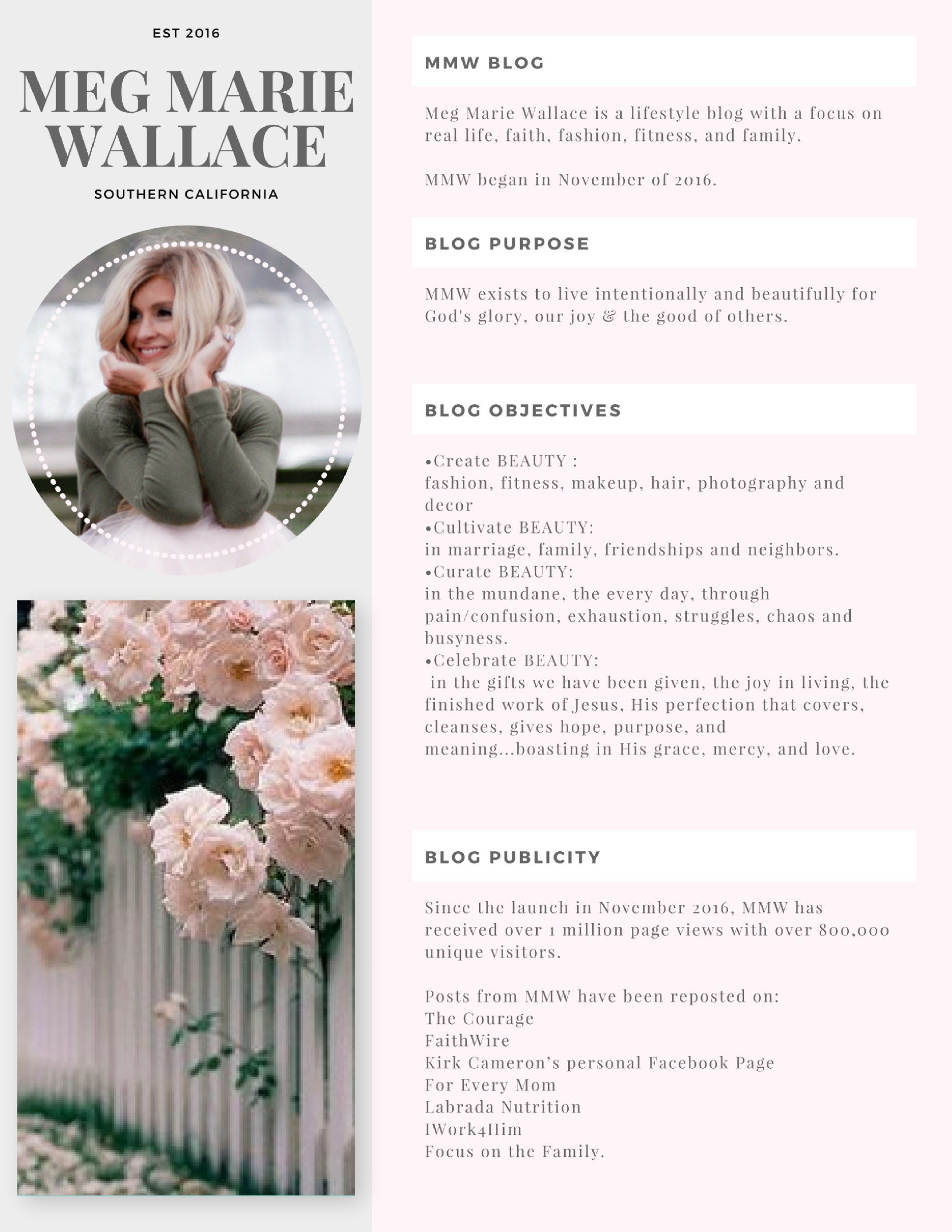 Meg Marie Wallace media pages