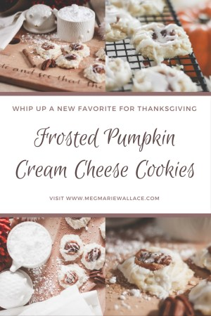 frosted pumpkin cream cheese cookies