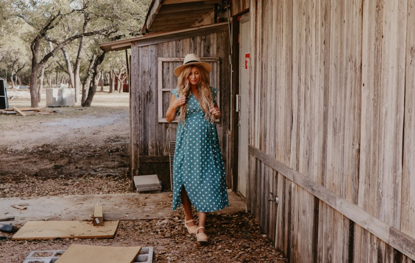 asos maternity | polka dot dress | meg marie wallace | maternity style | pregnancy