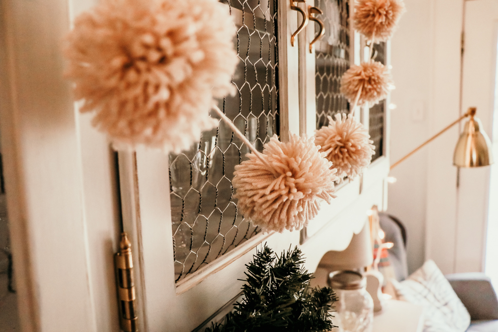reindeer tan pom garland | meg Marie Wallace | W6 Christmas Shop