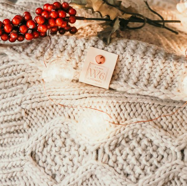 Donner Light Grey Sweater Pom Blanket | meg Marie Wallace | W6 christmas shop