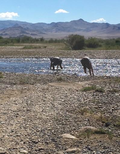 Bogie and Algaa getting water before we left