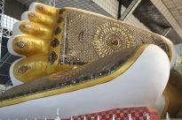 Feet of reclining Buddha, Bago