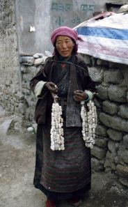 Nomad selling cheese