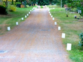 We line the roads with luminaries made by volunteers