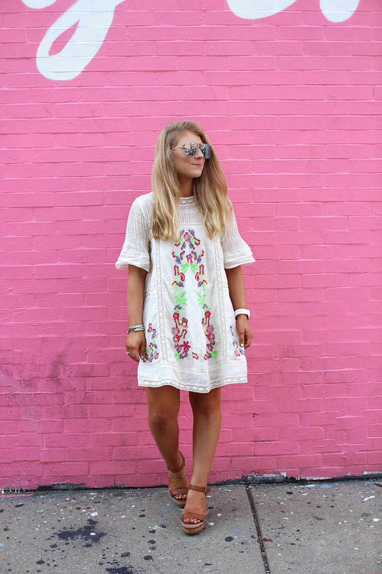 FREE PEOPLE EMBROIDERED DRESSS
