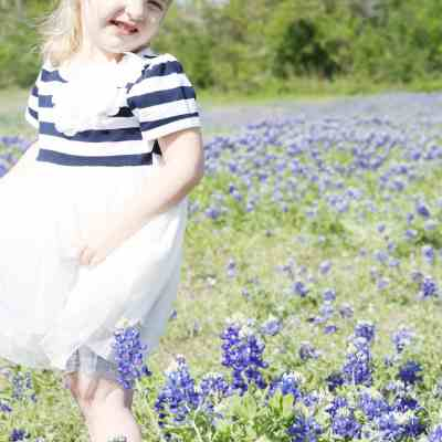 Toddler Bluebonnet Pictures