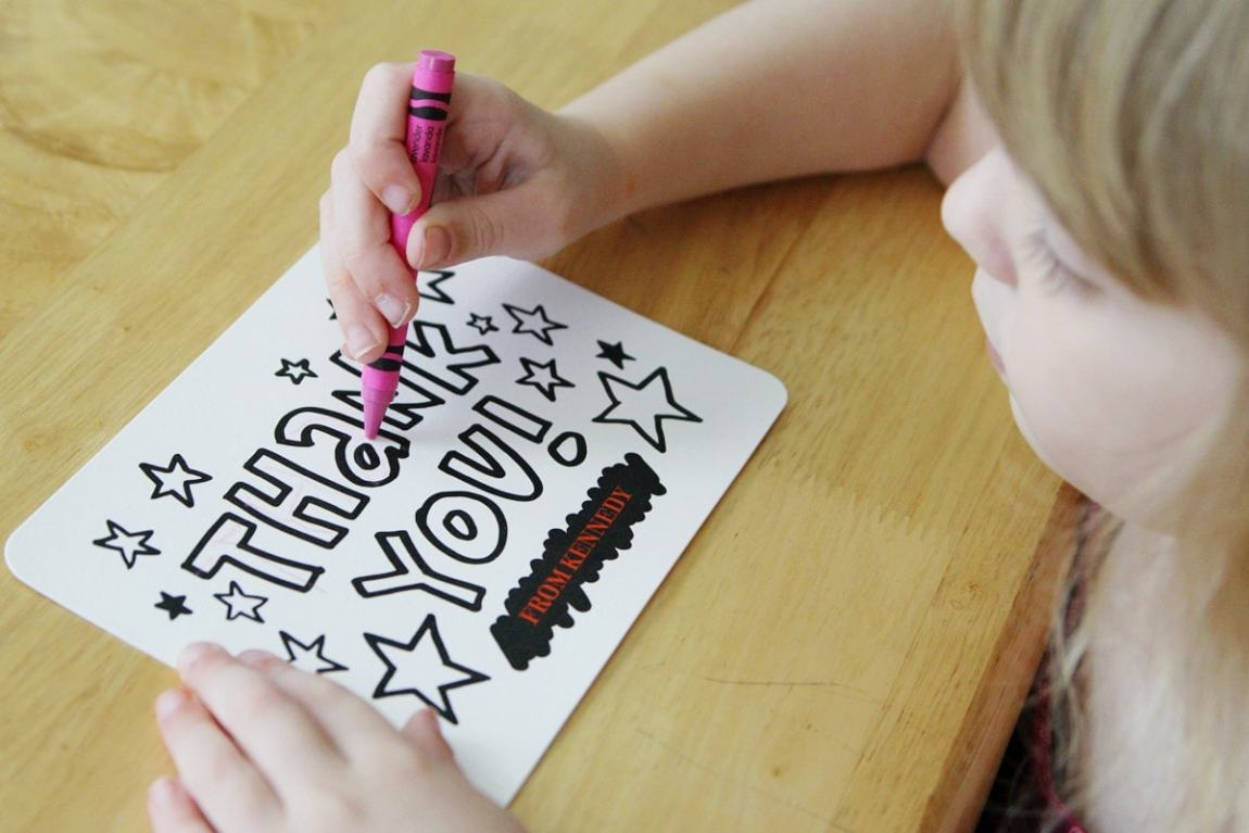 Color in Tiny Prints Thank You Cards