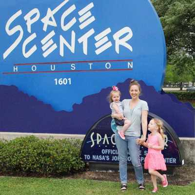 Playing Texas tourists in our own town - hanging out at Space Center Houston!