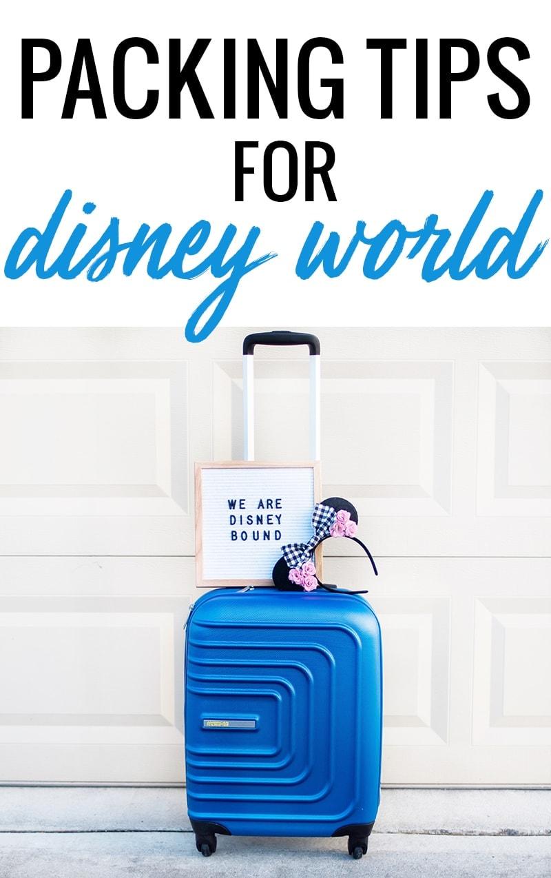 Houston blogger Meg O. on the Go shares some practical packing tips for Disney World!