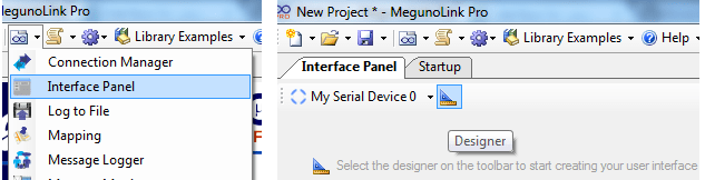 Create a new interface panel