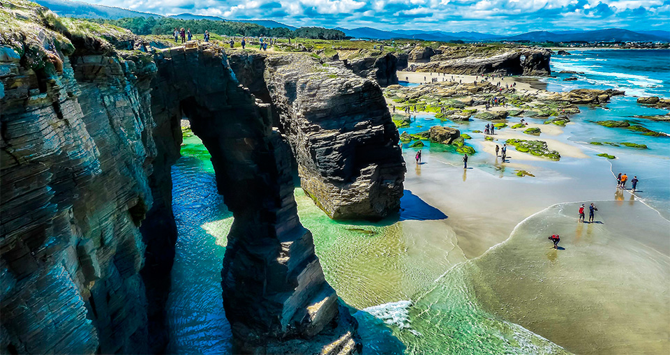playa ribadeo espana