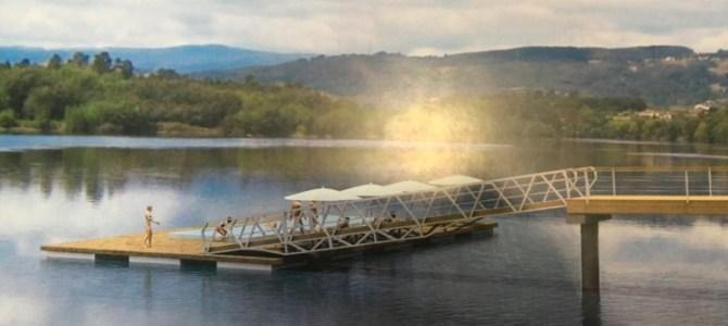 Una piscina termal flotante en el Río Miño