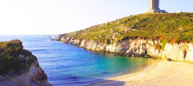 Calas Gallegas (3): Playa de As Lapas, a los pies de la Torre de Hércules